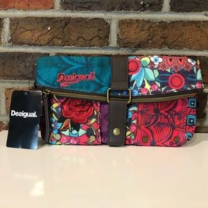 "Desigual ""Don't Worry Be Happy"" Clutch/Crossbody"